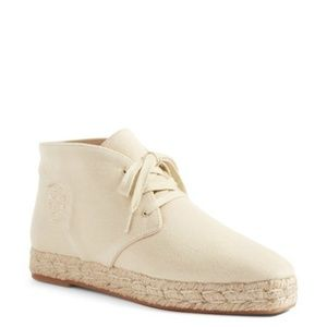 NIB Tory Burch Rios Espadrille Lace Up Bootie